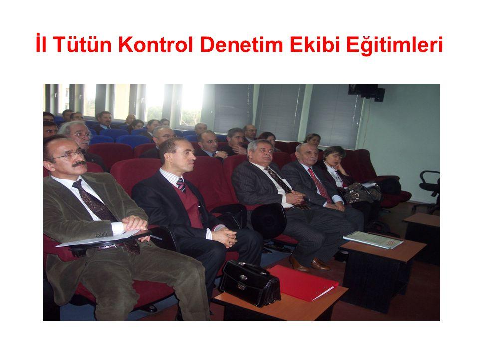İl Tütün Kontrol Denetim Ekibi Eğitimleri