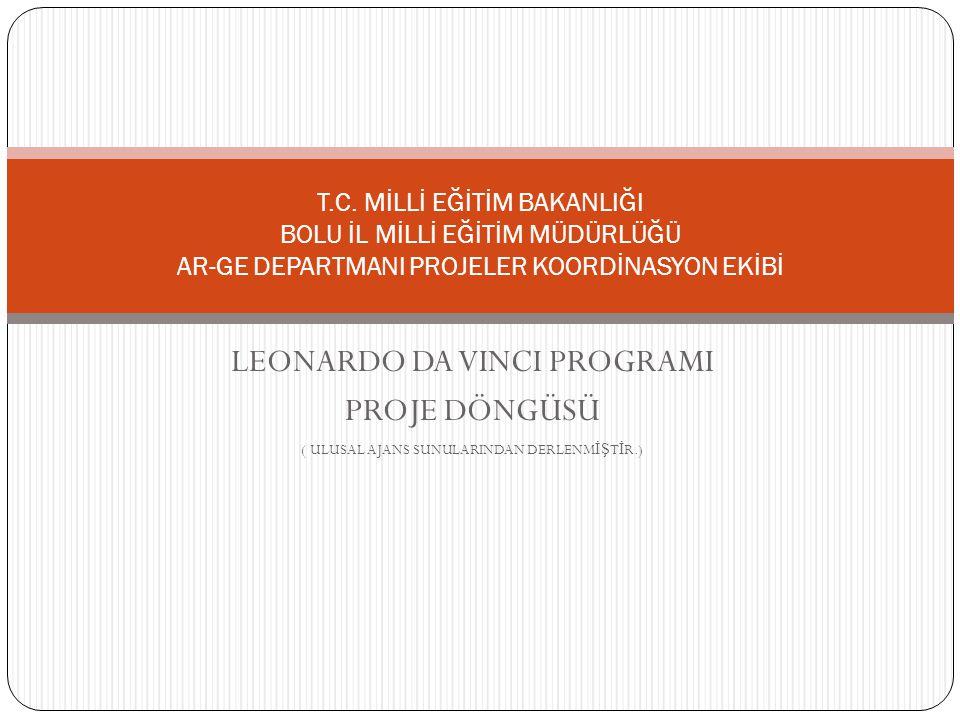 LEONARDO DA VINCI PROGRAMI PROJE DÖNGÜSÜ