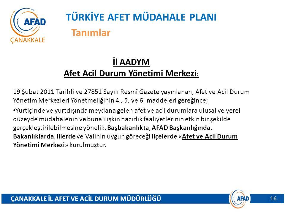 Afet Acil Durum Yönetimi Merkezi: