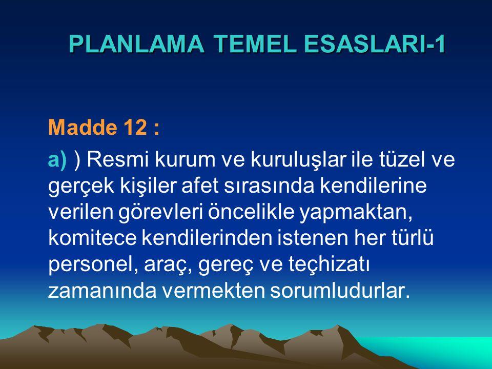 PLANLAMA TEMEL ESASLARI-1