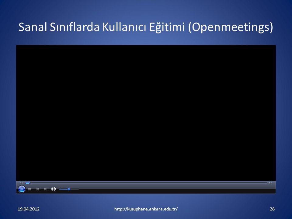 Sanal Sınıflarda Kullanıcı Eğitimi (Openmeetings)