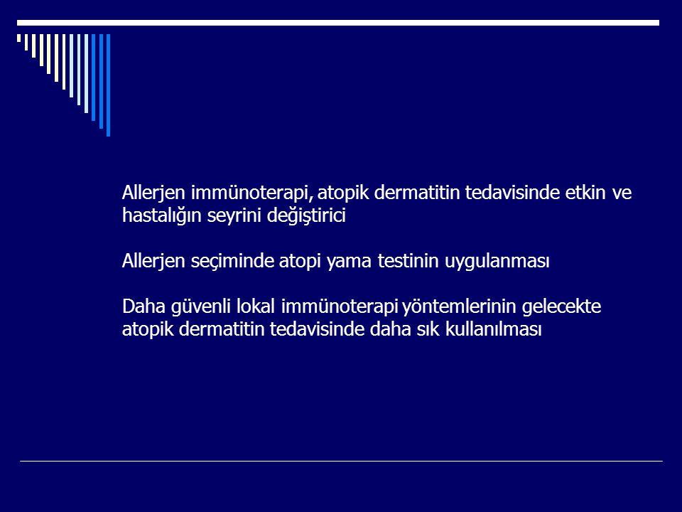 Allerjen immünoterapi, atopik dermatitin tedavisinde etkin ve
