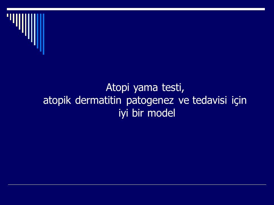 atopik dermatitin patogenez ve tedavisi için