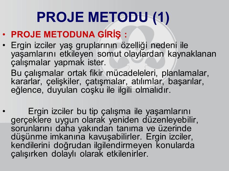 PROJE METODU (1) PROJE METODUNA GİRİŞ :