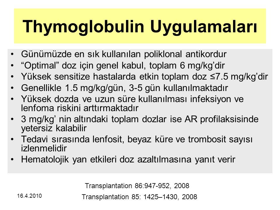Thymoglobulin Uygulamaları