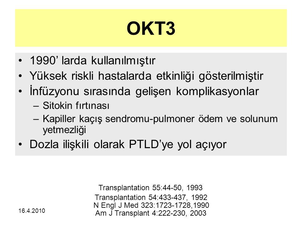 OKT3 1990' larda kullanılmıştır