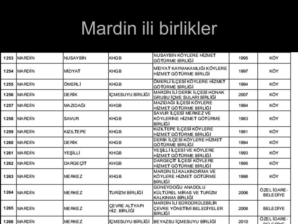Mardin ili birlikler