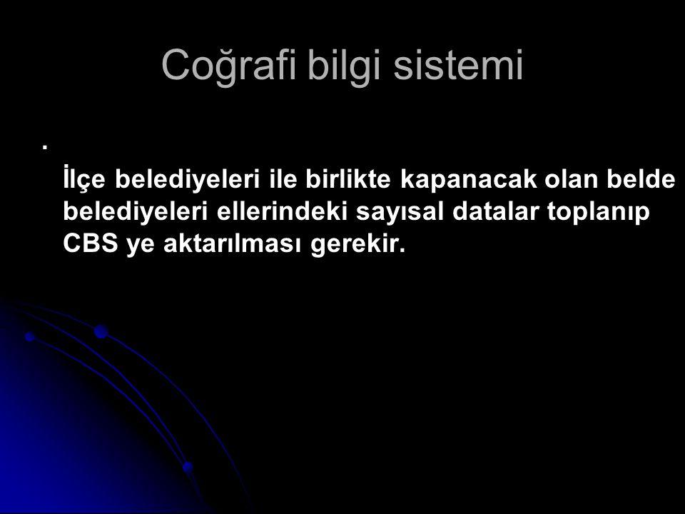 Coğrafi bilgi sistemi .
