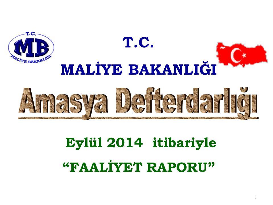 T.C. MALİYE BAKANLIĞI Amasya Defterdarlığı Eylül 2014 itibariyle