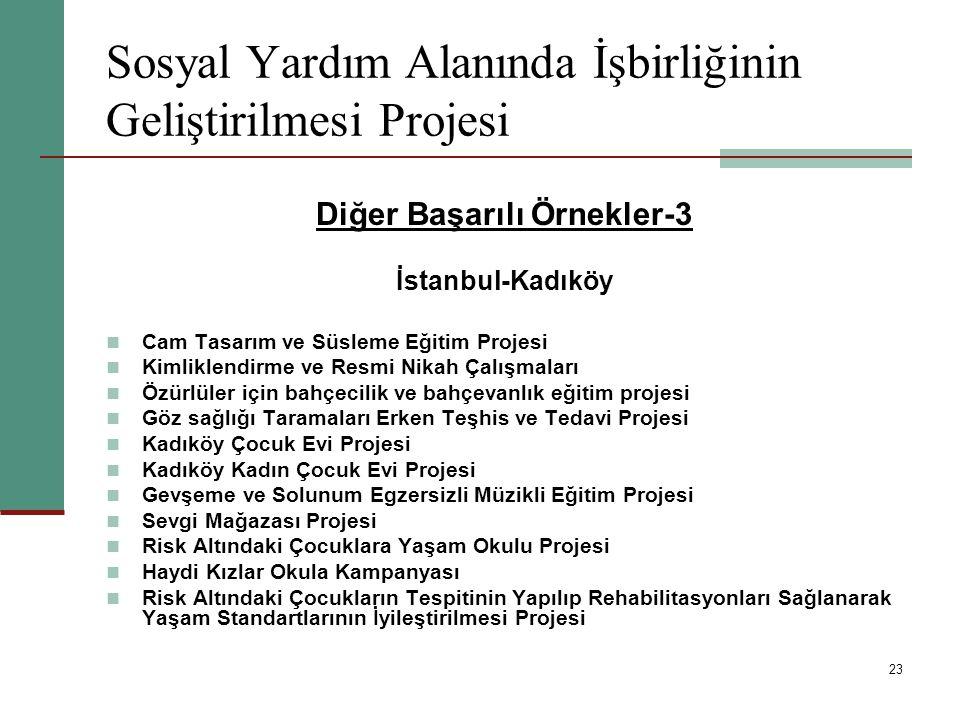 Sosyal Yardım Alanında İşbirliğinin Geliştirilmesi Projesi