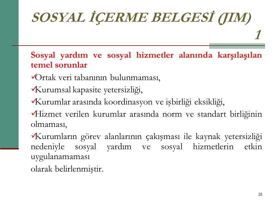 SOSYAL İÇERME BELGESİ (JIM) 1