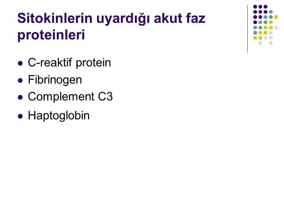 Sitokinlerin uyardığı akut faz proteinleri