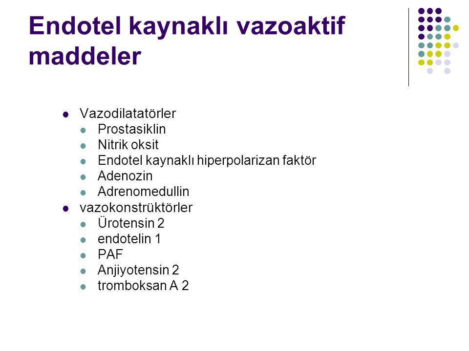 Endotel kaynaklı vazoaktif maddeler