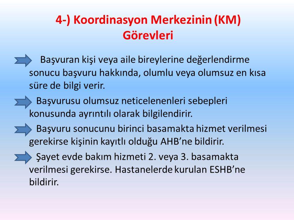 4-) Koordinasyon Merkezinin (KM) Görevleri