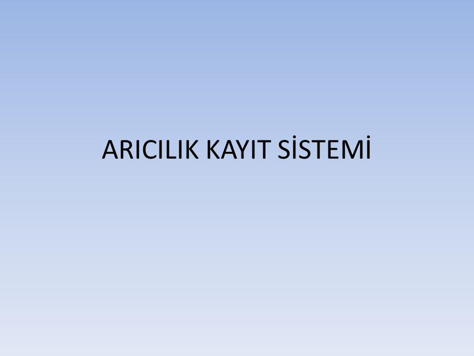 ARICILIK KAYIT SİSTEMİ