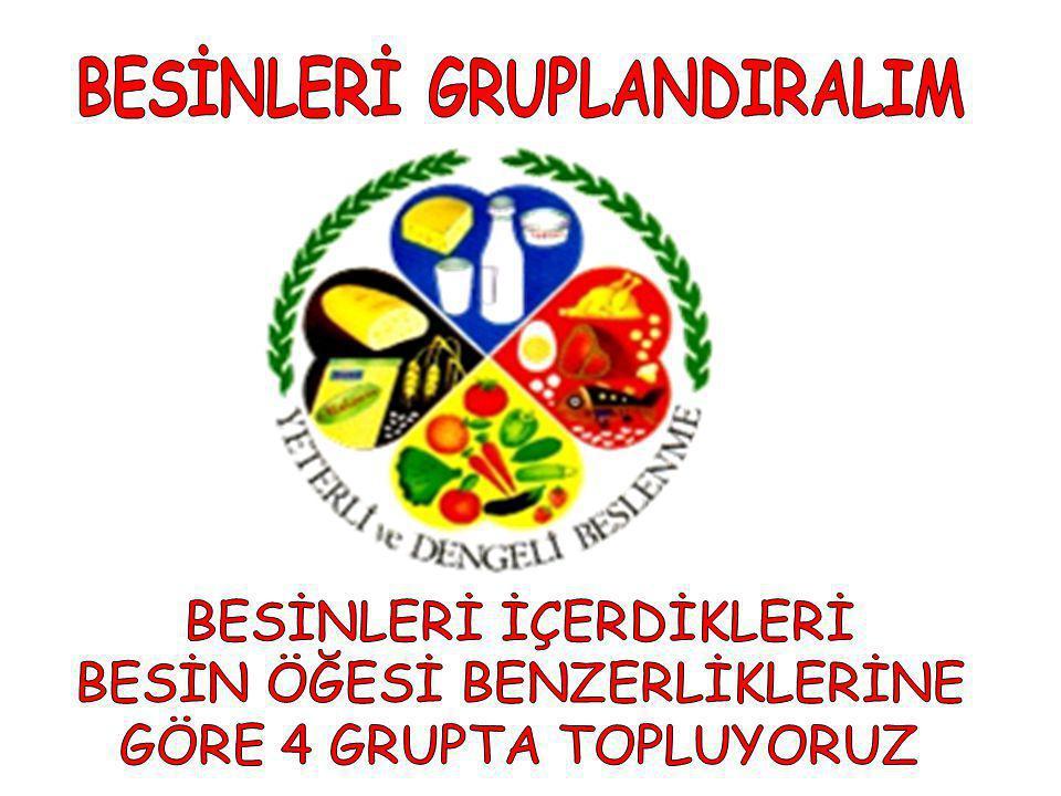 BESİNLERİ GRUPLANDIRALIM
