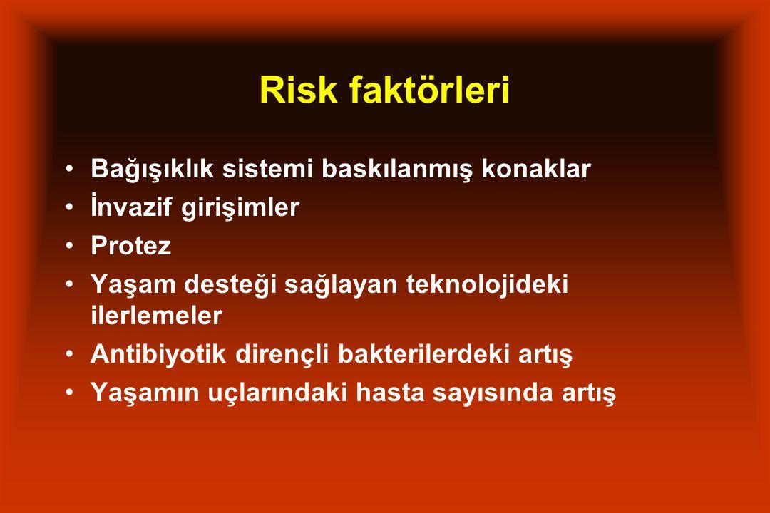 Risk faktörleri Bağışıklık sistemi baskılanmış konaklar