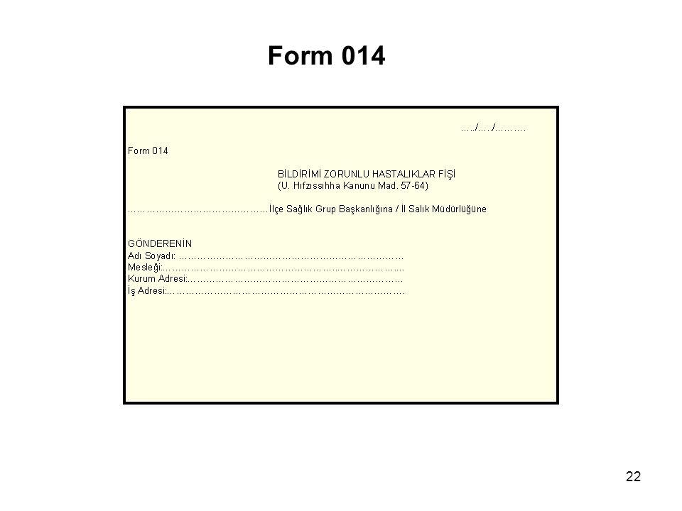 Form 014