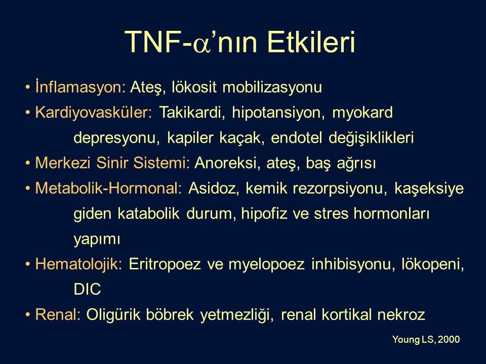 TNF-'nın Etkileri İnflamasyon: Ateş, lökosit mobilizasyonu