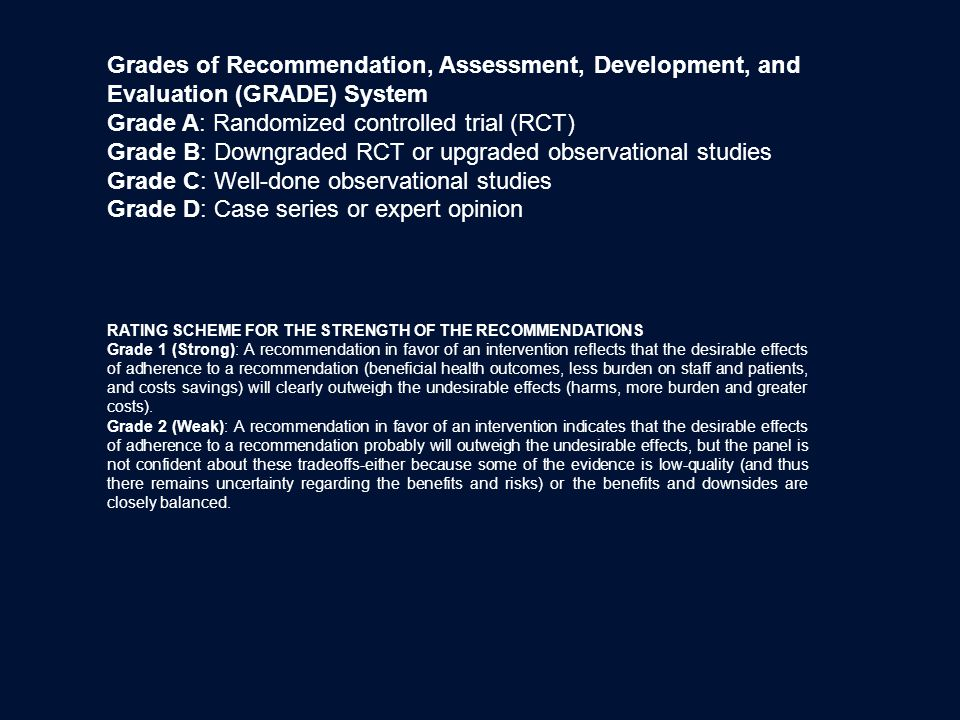 Grade A: Randomized controlled trial (RCT)