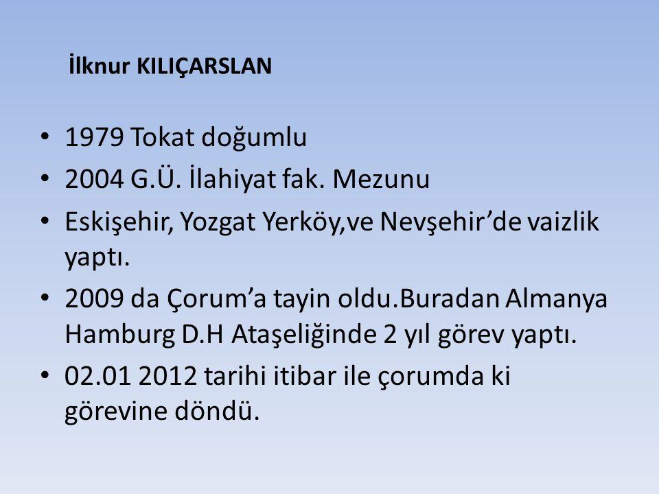 Eskişehir, Yozgat Yerköy,ve Nevşehir'de vaizlik yaptı.