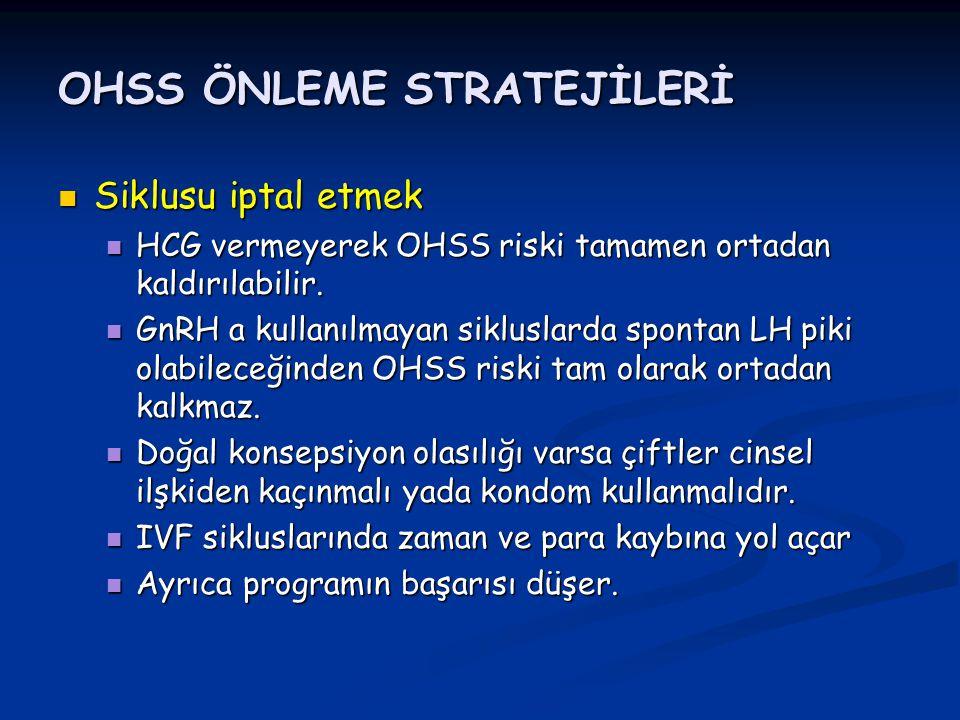 OHSS ÖNLEME STRATEJİLERİ