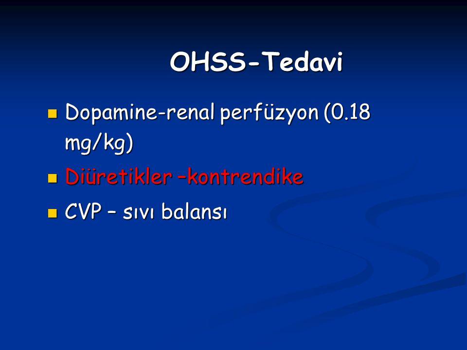 OHSS-Tedavi Dopamine-renal perfüzyon (0.18 mg/kg)