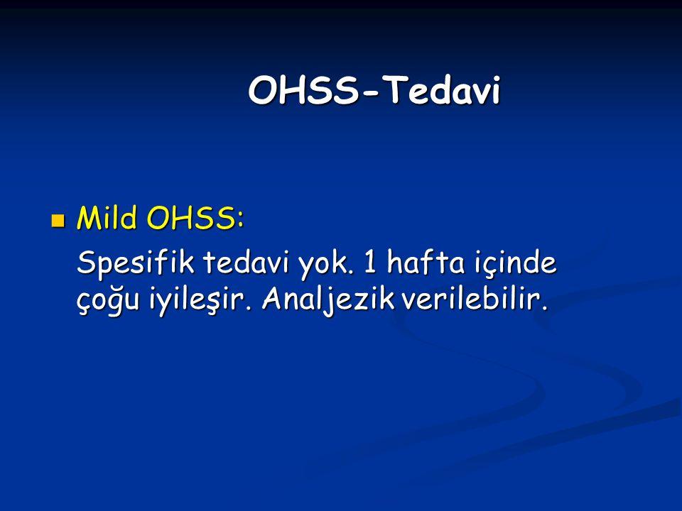 OHSS-Tedavi Mild OHSS: