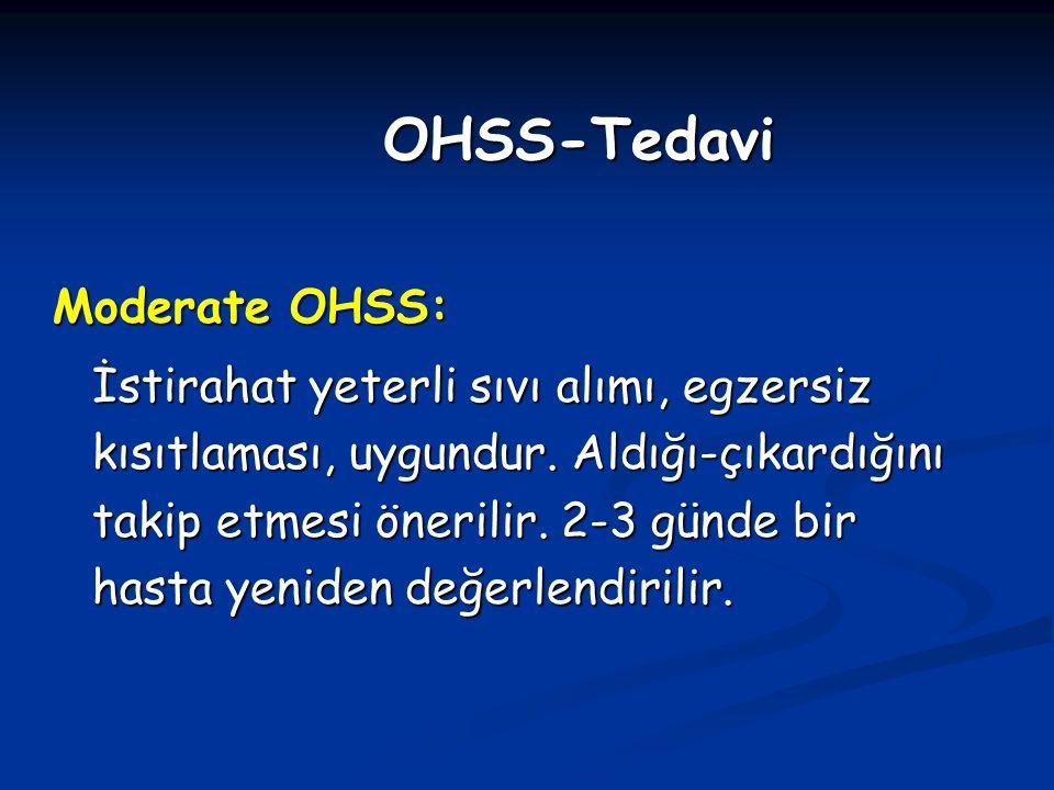 OHSS-Tedavi Moderate OHSS: