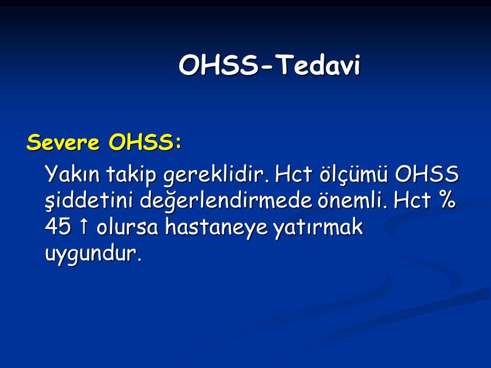 OHSS-Tedavi Severe OHSS: