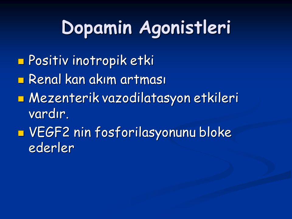 Dopamin Agonistleri Positiv inotropik etki Renal kan akım artması