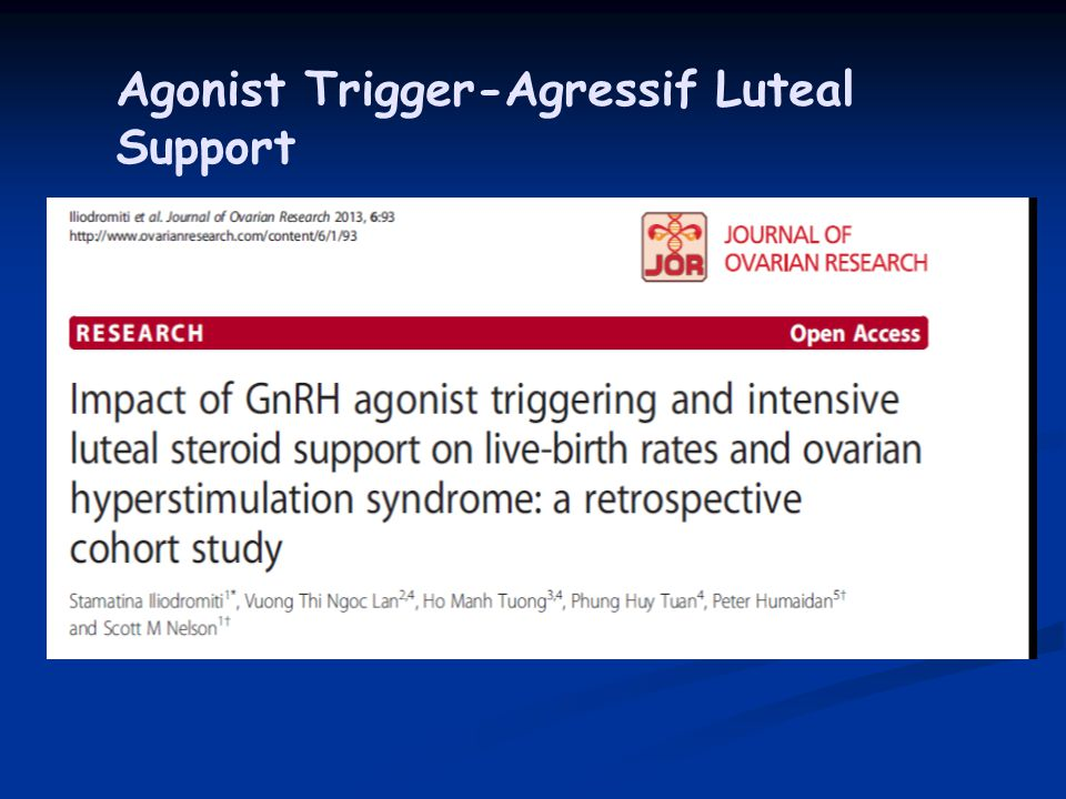 Agonist Trigger-Agressif Luteal Support