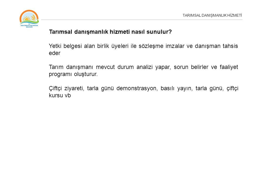 TARIMSAL DANIŞMANLIK HİZMETİ