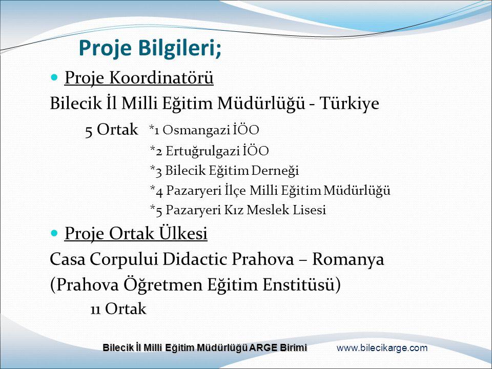 Proje Bilgileri; Proje Koordinatörü