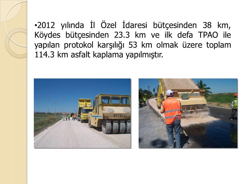 2012 yılında İl Özel İdaresi bütçesinden 38 km, Köydes bütçesinden 23