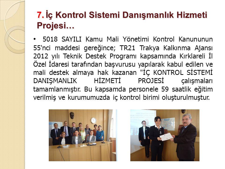 7. İç Kontrol Sistemi Danışmanlık Hizmeti Projesi…