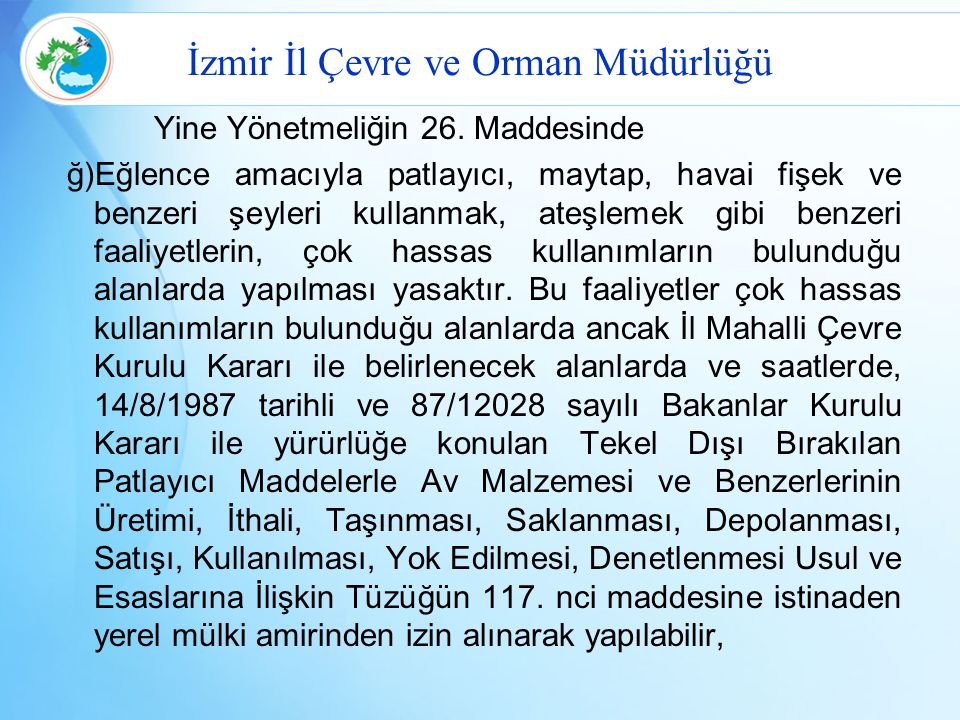 İzmir İl Çevre ve Orman Müdürlüğü