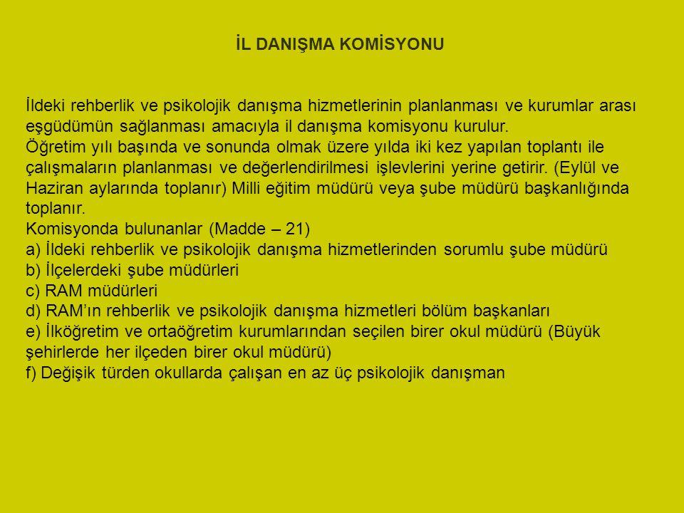 İL DANIŞMA KOMİSYONU
