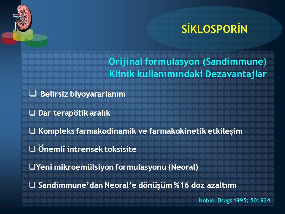 SİKLOSPORİN Orijinal formulasyon (Sandimmune)