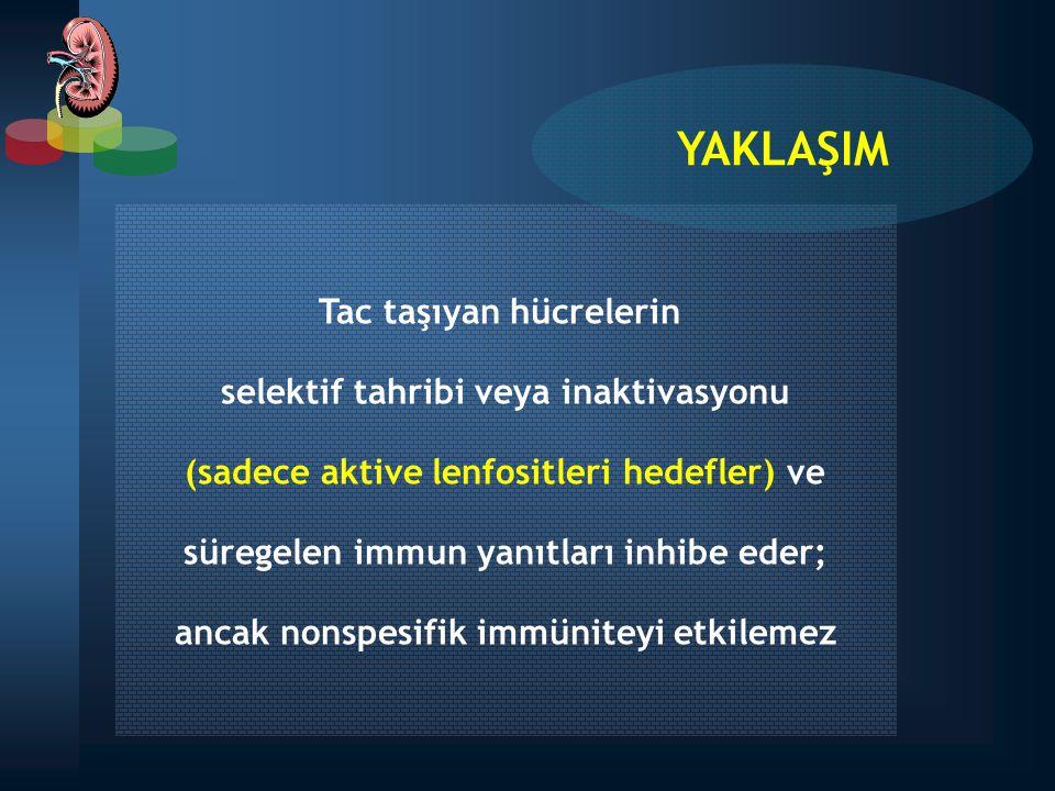 YAKLAŞIM Tac taşıyan hücrelerin selektif tahribi veya inaktivasyonu