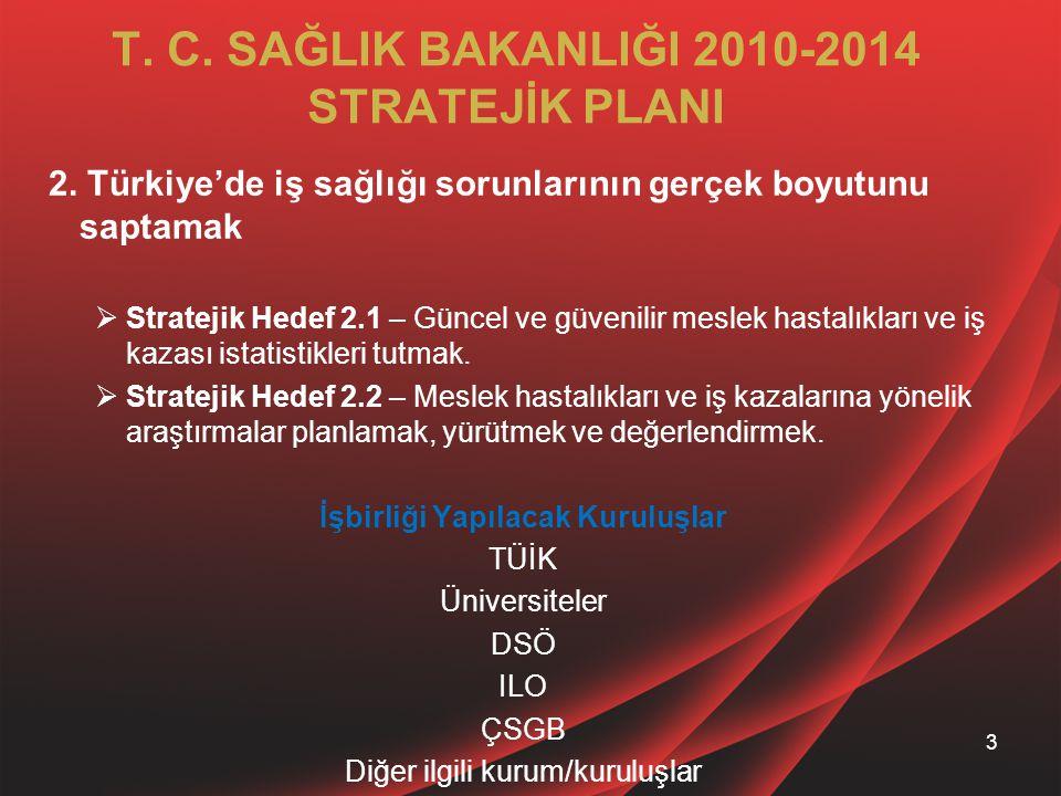 T. C. SAĞLIK BAKANLIĞI 2010-2014 STRATEJİK PLANI