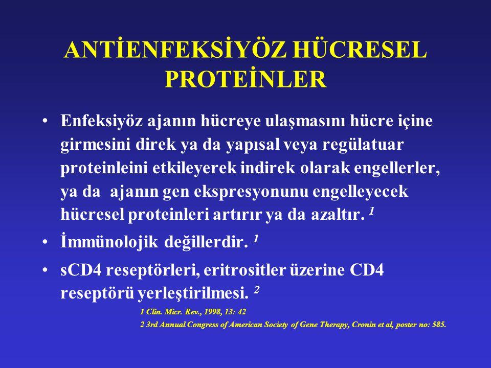 ANTİENFEKSİYÖZ HÜCRESEL PROTEİNLER