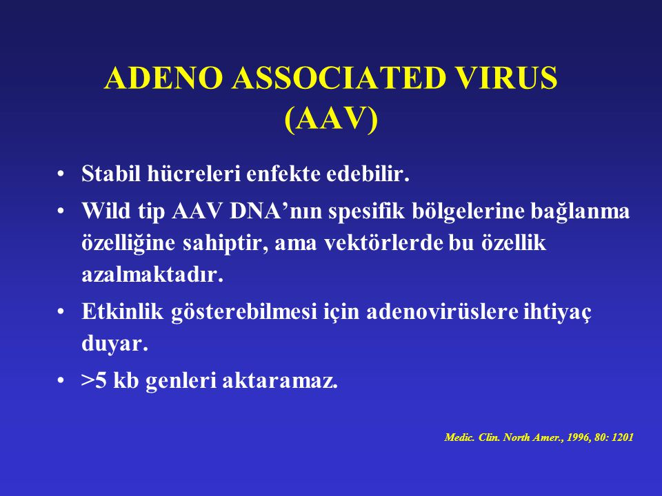 ADENO ASSOCIATED VIRUS (AAV)