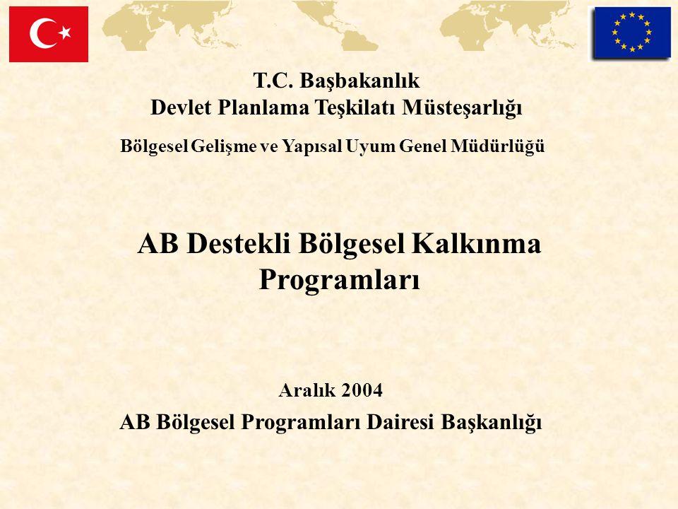 AB Destekli Bölgesel Kalkınma Programları