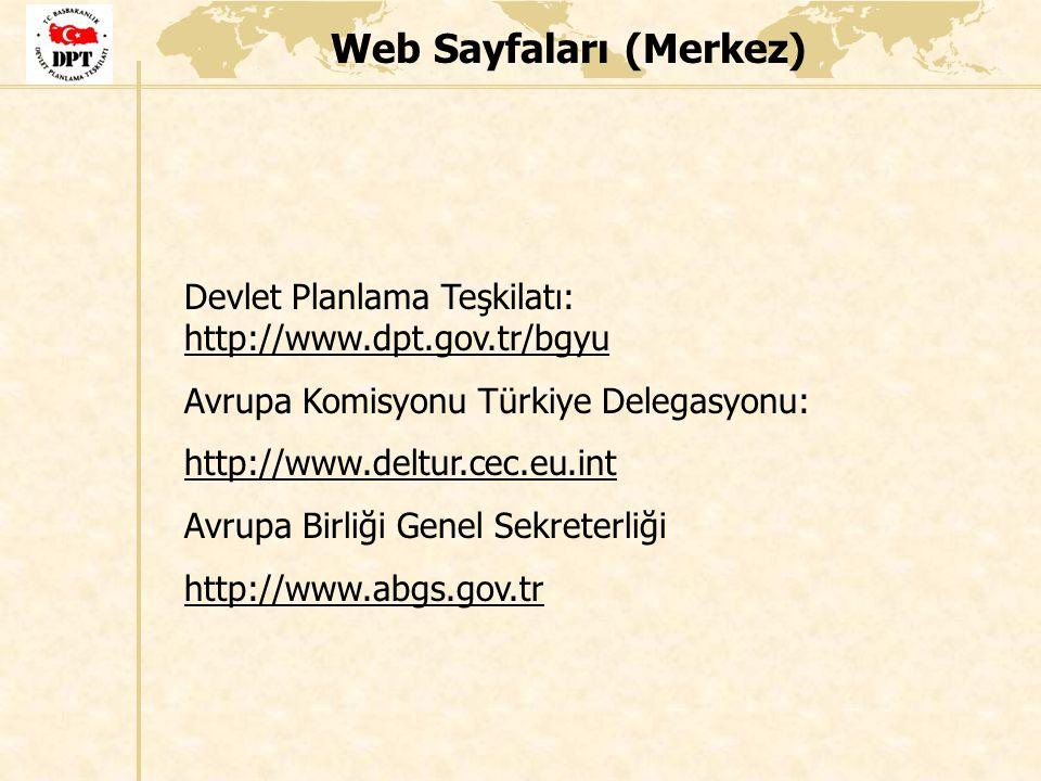 Web Sayfaları (Merkez)