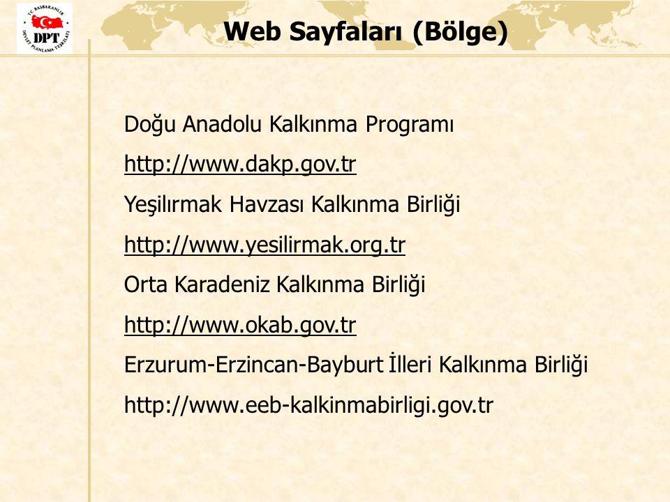 Web Sayfaları (Bölge) Doğu Anadolu Kalkınma Programı