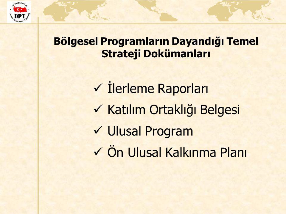 Bölgesel Programların Dayandığı Temel Strateji Dokümanları