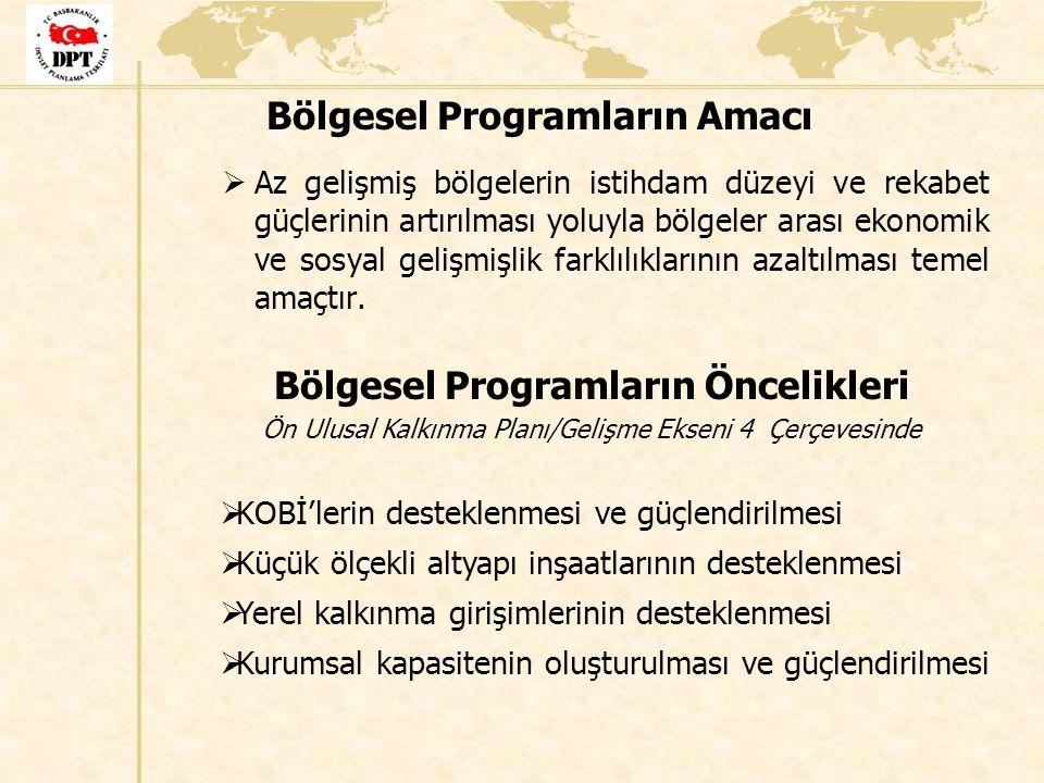 Bölgesel Programların Amacı