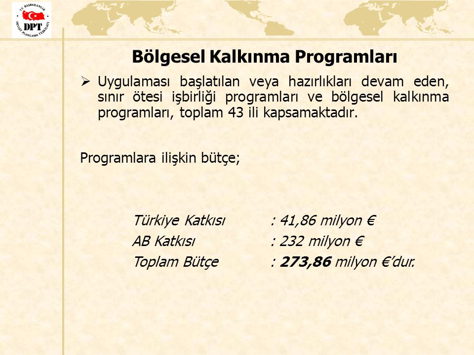 Bölgesel Kalkınma Programları