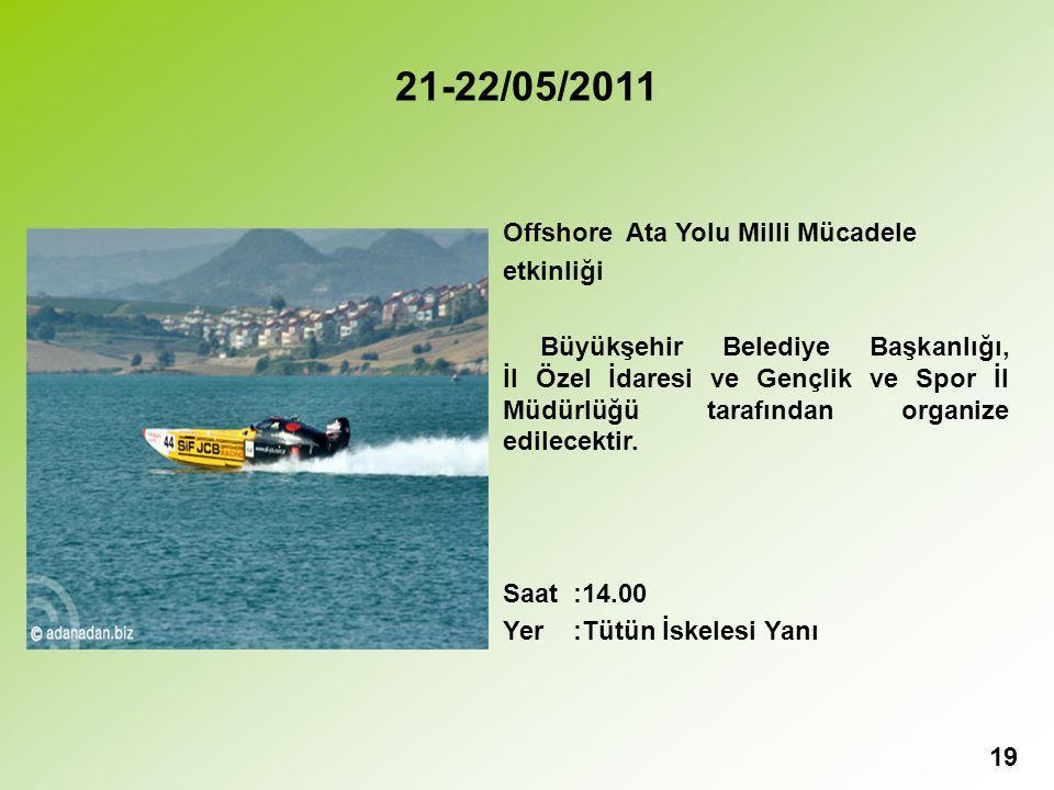 21-22/05/2011 Offshore Ata Yolu Milli Mücadele etkinliği